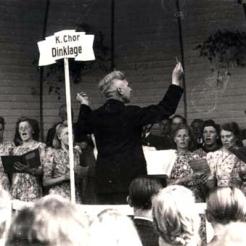 Kirchenchor 1947 Dirigent Hermann Espelage