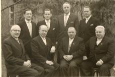unten Koldehoff, Blömer, Arnold Frerker, Florenz Grendel hinten v. links Walter Schumacher Bernhard Heimann Aloys Lamping Hubert Arkenau 1961